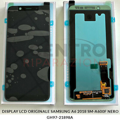 Display Lcd Touch Screen Originale Samsung Galaxy A6 2018 Sm-A600F Nero Black