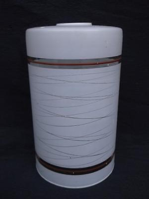 585 / A 1950,s GLASS LAMP / CEILING SHADE