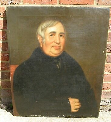 Good large 19th Century Portrait Oil of a Portly Gentleman