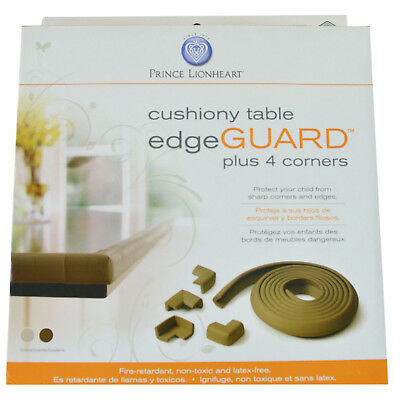 Prince Lionheart Table Edge Guard with 4 Corners, Chocolate Brown