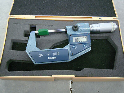 MITUTOYO Electronic Digital Micrometer,1 to 2 In, 293-370