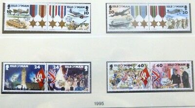 IoM  1995 50th Anniversry of the end of WWll MNH (8)