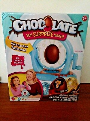 Chocolate Egg Surprise Maker Toy with Real chocolate Included 19 Pieces NEW
