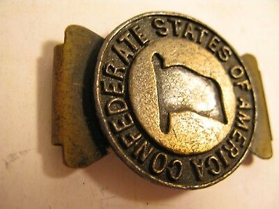 Confederate States of America Belt Buckle Clasp Plate Brass Metal (read) Civil