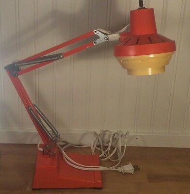 VTG Mid Century LEDU Swedish Modern Articulated Architectural Drafting Desk Lamp