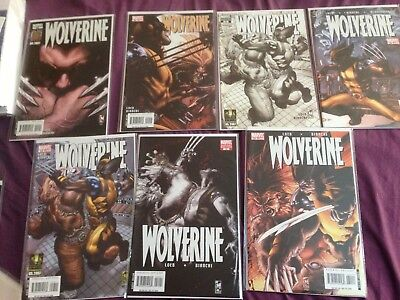 """WOLVERINE 50,51,52,53,54,55 """"EVOLUTION"""":COMPLETE 6 ISSUE STORY by LOEB & BIANCHI"""