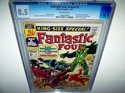 Fantastic Four Annual 5 CGC 8.5 1st Solo Silver Surfer Story 1st app Psycho-Man