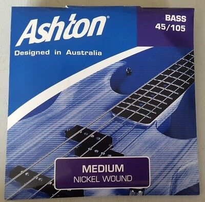 New Ashton 45-105 Medium Bass Strings Nickel Wound New Music