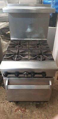 Range Cooker 4 Burner Commercial Cooker Stainless Steel With Oven