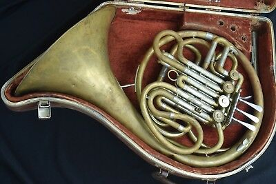 F. E. Olds Fullerton Calif. Double French Horn.