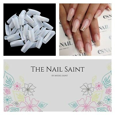 New Acrylic Nail Tips 500pcs Natural C Curve