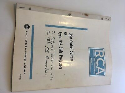 RCA television Broadcast manual vintage 1960s SLIDE PROJECTOR schematic