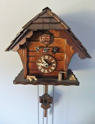 Vintage Anton Schneider Regula Germany Black Forest Wooden Cuckoo Clock