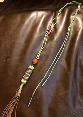 Beaded Regalia Belt Long Necklace Antique Trade Beads Choctaw Native American