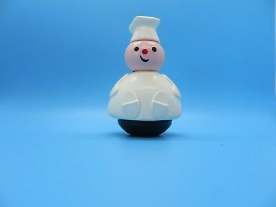 """Fisher Price Toy Baker 4 3/4"""" Tall White with Black Base"""