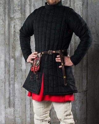Medieval Thick Padded Gambeson suit of armor quilted costumes theater larp qaz