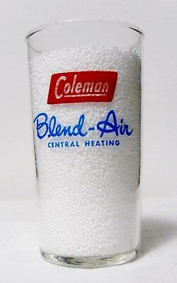 "Vtg '60's Coleman Advertising Glass✴️*blend-Air* Heating-Cooling✴️""pin-Up"" Theme"