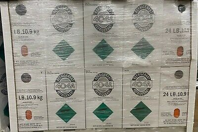 R404a, R404, R-404, 404a Refrigerant (2) 24lb tank. New, Full and Factory Sealed