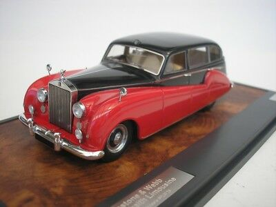 Rolls Royce Silver Wraith Freestone & Webb 1957 Black/Red 1/43 Matrix New
