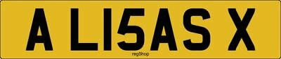 AL15 ASX Personalised Private Car Registration Show Plate Number Lisa xxx x Leza