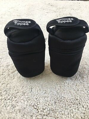 Tommee Tippee 2 x Thermal Insulated Bottle Bags Feeding Bottle Holder 2 Pack