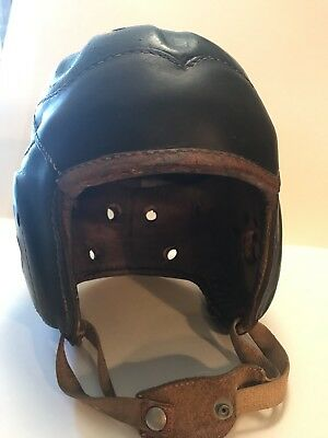 AWESOME Early Old Antique 1930's -1940's Leather Football Helmet Vintage