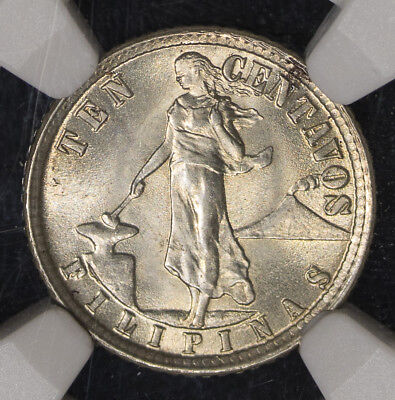 1918 S NGC MS64 USA-Phil Ten Centavos Item#M1044