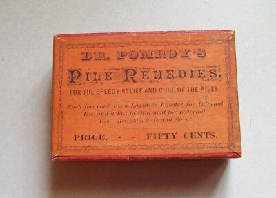 RARE, DR. Pomroy's Pile Remedies, Never Opened, Nice Condition, .
