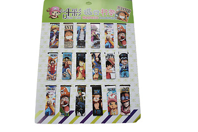 2x Novelty Anime One Piece Zoro Luffy Magnetic Bookmark Page Markers Free UK P&P