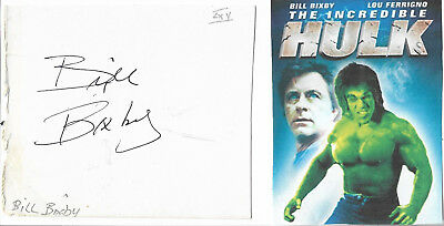 Bill Bixby - Vintage In Person Hand Signed Autograph On Program Piece With Pict.