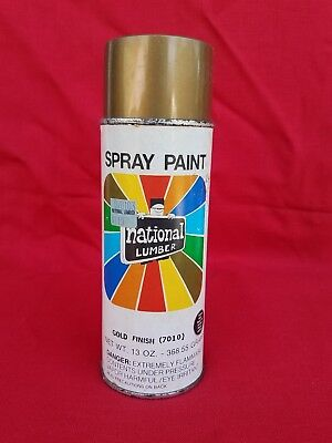 Vintage National Lumber Spray Paint Can Shorty