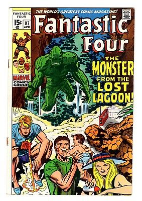 FANTASTIC FOUR  #97 APRIL 1970  'The Monster From The Lost Lagoon!' KIRBY  FN+