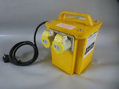 New and unused Defender 3kva twin outlet transformer, for 110v site tools.