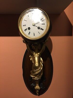 Rare Antique French  Wall Clock. C1890