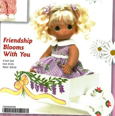 Precious Moments 9 Inch Doll Set, 'Friendship Blooms With You', New In Box, 3376