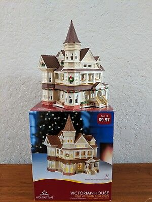 Holiday Time 2005 Victorian HOUSE Collectible Porcelain Lighted House VILLAGE