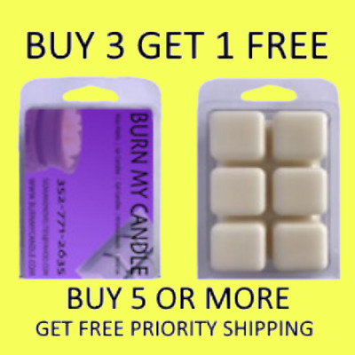 Hand poured Soy Wax Tart Melts Clamshells Scents  FREE SHIPPING