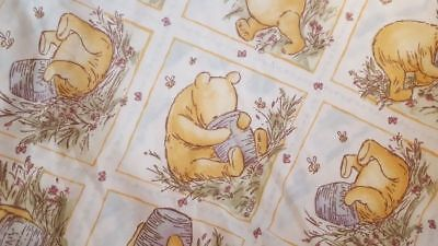 Vintage Classic Winnie the Pooh Twin Fitted Sheet Disney Pooh Bear Hunny