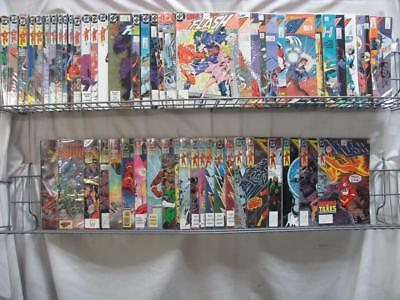 The Flash  2nd Series DC Comics Lot of 59 Comics From 2 to 124 w/ Annuals (291)