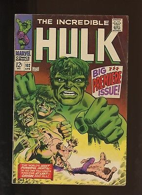 Incredible Hulk 102 VG 4.0 * 1 * 1st Issue Continues From Tales to Astonish 101!