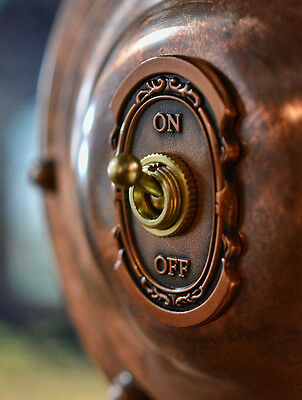 Switch Cover 111 - Antique Copper Industrial Switch Plate Steampunk Switch Panel