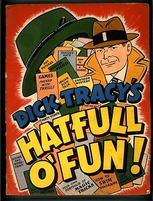 Dick Tracy's Hatfull Of Fun G+ Very Rare Giveaway Promotional Comic 1950?