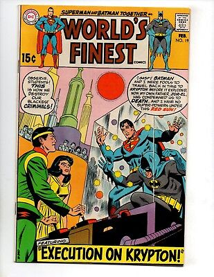 "World's Finest Comics #191 (Feb 1970, DC) VF- 7.5 ""BATMAN & SUPERMAN"""