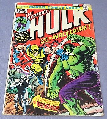 THE INCREDIBLE HULK #181 (Wolverine 1st appearance) Incomplete Marvel 1974