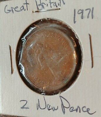 Great Britain 2 New Pence Coin 1971 Beautiful Condition