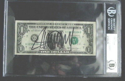 President Donald Trump Autographed Signed $1 Dollar Bill BGS Beckett Slabbed BAS