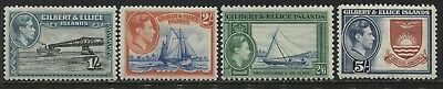 Gilbert & Ellice Islands KGVI 1939 1/ to 5/, 1/ is perf 12, mint o.g.