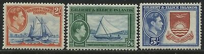 Gilbert & Ellice Islands KGVI 1939 2/ to 5/ mint o.g.