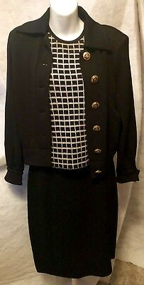 St. John Collection By Marie Gray Knit Pantsuit/skirt..4 Pieces