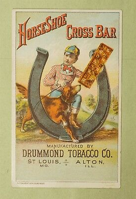 Victorian Trade Card Advertising Drummond Tobacco Co St Louis Mo